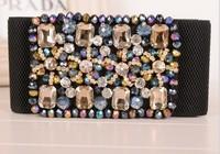 2014 ultra-luxury flash diamond crystal color beaded elastic stretch cintos femininos wide belt cinturones mujer Belts For Women