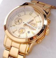 Runway Gold-tone watch Luxury Elegant Women's Watch Stainless steel Famous Brand Fashion Ladies Dress Watch Diamond Wristwatch