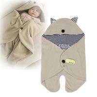 Kids Baby Blanket Infant Hoodie Swaddle Swadding Wrap Sleeping Bag Stroller Newborn Altumn Winter Sleepsacks