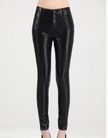 Women PU High Waist Leather Leggings casual  slim pencil Pants Plus Size Women boots cut Sexy Girls skinny Pants s330