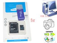 Wholesale 3in1 memory card Micro SD card 32gb 64GB class 10 micro sd 8GB 16GB Flash for gopro phone  camera computer