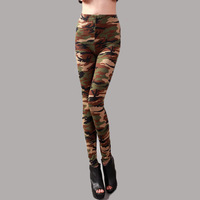 Women's Han edition printed autumn/winter camouflage cotton render thickening and velvet pants pencil thin big yards leggings