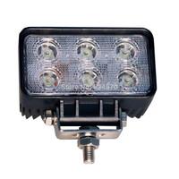 18W 6 LED Flood Work Light Epistar LEDs for Truck Boat Jeep ATV SUV 4WD 4X4