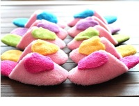2014 New Winter Unisex Striped Mute Silent Slippers Women Korea for Men Home Flooring Cotton Slippers Warm Shoes Plus Size LOVE