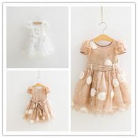 Hu sunshine wholesale new 2014 fashion Summer girls cotton Pure cotton cute  princess dress factory outlets WW11272598H