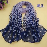 Hot candy color Dot printed Chiffon brand scarves female spain desigual scarf bufandas shawl women cause Winter Spring scarf
