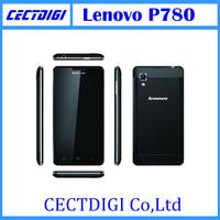 Original Lenovo P780 Quad core android phones MTK6589 5 inch HD 1280x720  1.2GHz  4000mAh 1GB RAM 4GB 8.0MP Camera P780 freeship