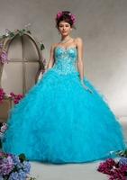Floor-lenngth turquoise quinceanera dresses with petticoat bg_88069