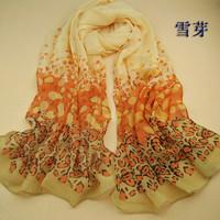 Women new fashion brand chiffon scarves Leopard printed desigual scarf  Female casual Winter Spring long bufandas shawl