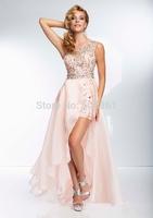Formal evening dresses front short back long dress to party bg_95054