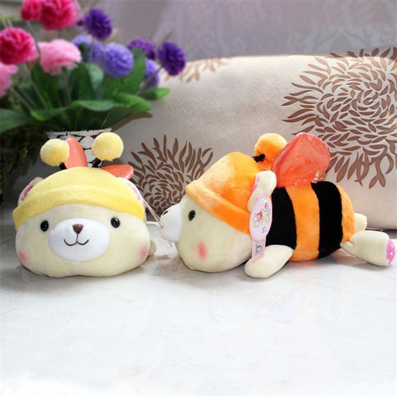 Free Shipping Cute Cartoon Dolls Plush Toys Stuffed Animals Panda Bee Dolls for Girls Baby Kids Birthday Gifts Game Dolls(China (Mainland))