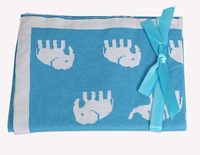 2014 New Hot Spring Winter Baby Products Bedding Elephant Blanket Swaddling 100% Cotton Free Shipping