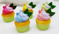 20pcs/lots 5cm muti colors cupcake with cream squishyy