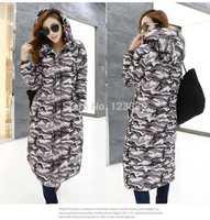 Parka 2014 New Winter Jacket Women White Duck Down Coat Long Warm Casual Outwear Winter Coat Women  Down & Parkas