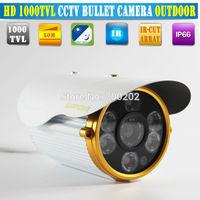 "Free shipping 2014 NEW 1/3"" SONY CMOS 1000TVL Waterproof Outdoor security camera IR 80m CCTV Camera Security Camera Vandalproof"