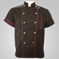 Summer black Hotel uniforms chef uniforms cook uniforms waiter uniforms
