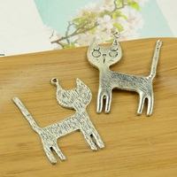 30pcs/lot A3455 antique silver cats shape alloy charm pendant fit jewelry making 38x44MM Wholesale