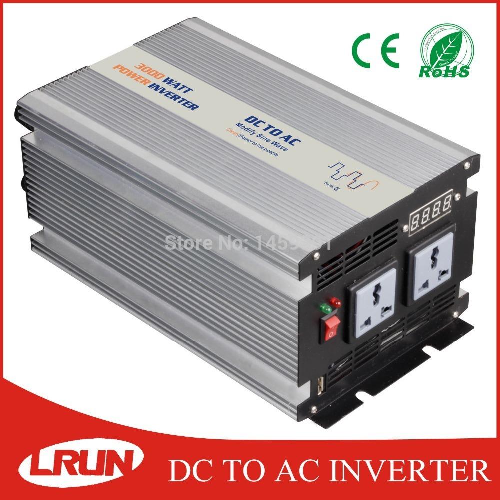 CE&ROHS off grid inverter 3000w peak power 6000w modified sine wave home/wind/solar/car power inverter 12v 220v 3000w(China (Mainland))