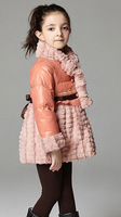 2014 hot selling winter new girl collars stitching down jacket Free shipping
