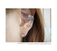 Bling rhinestone pearl stud earring quality shenp all-match hot-selling earrings