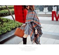 2014 New Hot Fashion Classical Plaid Winter Big Shawl Warm woman Wool Tassel Scarf