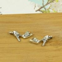 100pcs/lot A3478 antique silver shoe shape alloy charm pendant fit jewelry making 12X41MM Wholesale