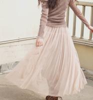 Korean Women new double net veil yards bottoming skirt tutu skirt beach long skirt bust