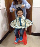 Child waterproof cloth hot oil hair last cloth
