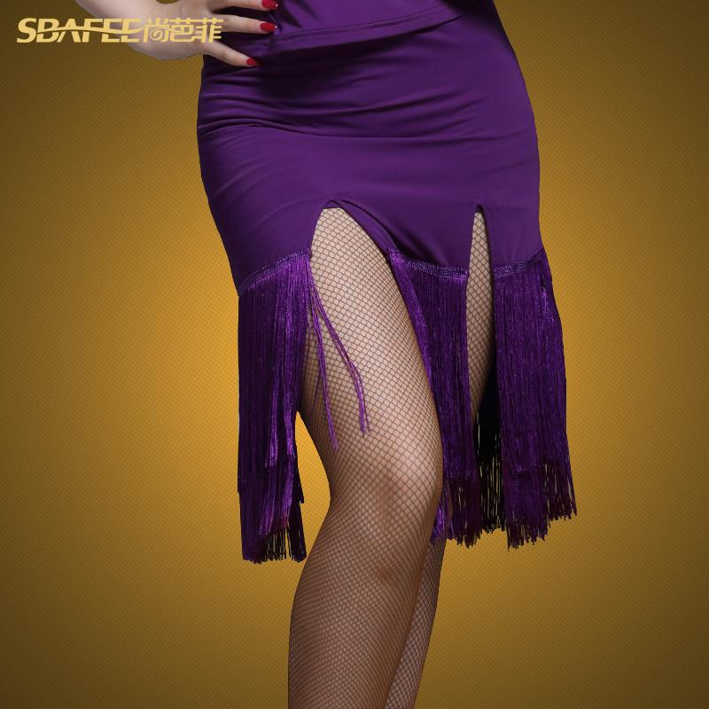 Shang Bafei new dance skirt Professional Latin dance skirt L221 exercise suit bottoms Female Latin dance