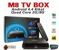 30pcs/lot Quad Core XBMC Android TV Box M8 Amlogic S802 2G/8G2.4G/5G Dual WiFi Mali450 4K HDMI Bluetooth DOLBY True HD DTS EM8