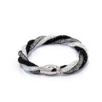 stardust crystal bracelet/bangle with magnetic clasp,unique designed braided weave hollow punk bracelet bangle christmas gift