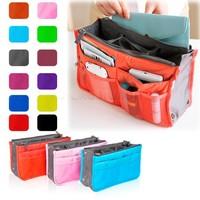13 Candy Colors Nylon Makeup organizer bag Women Men Casual travel bag multi functional Cosmetic Bags storage bag Free shipping