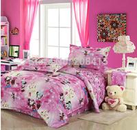 Mikey Mouse4 pieces Single /twin/double Size Bed Quilt/Doona/Duvet Cover Set 100% Cotton