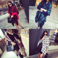 2014 New Hot Fashion European England Preppy Style Scarves Winter Warm Shawl  Woman Classical Plaid Scarf