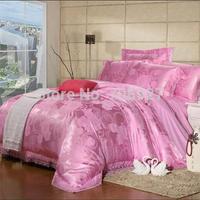 French lace kit piece bedding set satin cotton modal jacquard 100% four piece set