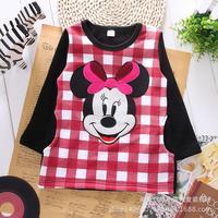 Children's wear Sweatshirts Korean version of cotton and wool-thickened  minnie cartoon Mouse girls shirt