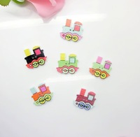 Free shipping -100pcs Mixed 2 Holes Cartoons Train Traffic Tools Pattern Wood Sewing Buttons Scrapbooking 25mmx22mm D2636