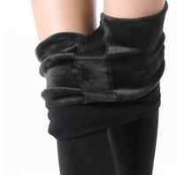 Hotsale Women Fashion Winter Thicken Warm Sexy Black Korean Style Pencil Shape Knit Foot Skinny Pants