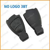20pieces/lot plastic black 66mm 3 button no logo car remote key shell replacement