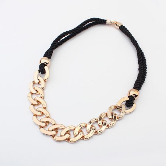 Fashion Jewelry Charm Chunky Statement Punk Gold Chain Pendant Necklace Bib Choker