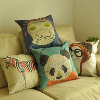 Animal office sofa fluid pillow cover kaozhen cushion