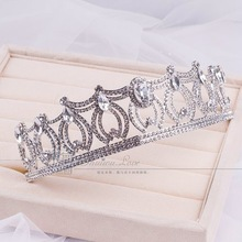 High end custom seiko quality crown marriage jewelry wedding hair accessories Free shipping
