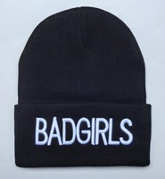 Badgirls Beanie Hats men's wool hat sports Skullies Knitted Warm Caps For Man Women Fashion Hiphop Caps
