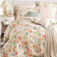 2015 Spring Home Textile 100% cotton Floral printed designer's beddings set 4 pcs wedding bed sheet/duvet cover set king/queen