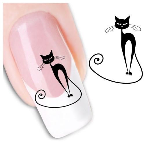 1sheets Hot New Nail Cat Design Water Transfer Nail Art Stickers Watermark Decoration DIY Tattoos stencil Nail Tools XF1442(China (Mainland))