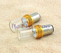2pcs/lot 1157 7W Glass Car light source White Super Bright Marker Car LED Cree Bulb BackBup Reverse Light Lamp Free shipping