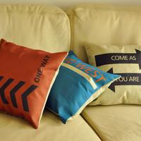 Personalized letter arrow fluid pillow car cushion kaozhen core