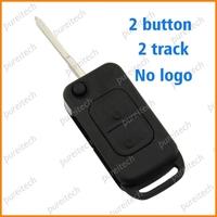 10pieces/lot plastic black 2 button 2 track no logo car flip remote key covers