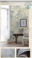2015 living room bedroom wallpaper Eastern Mediterranean retro chart TV background wall