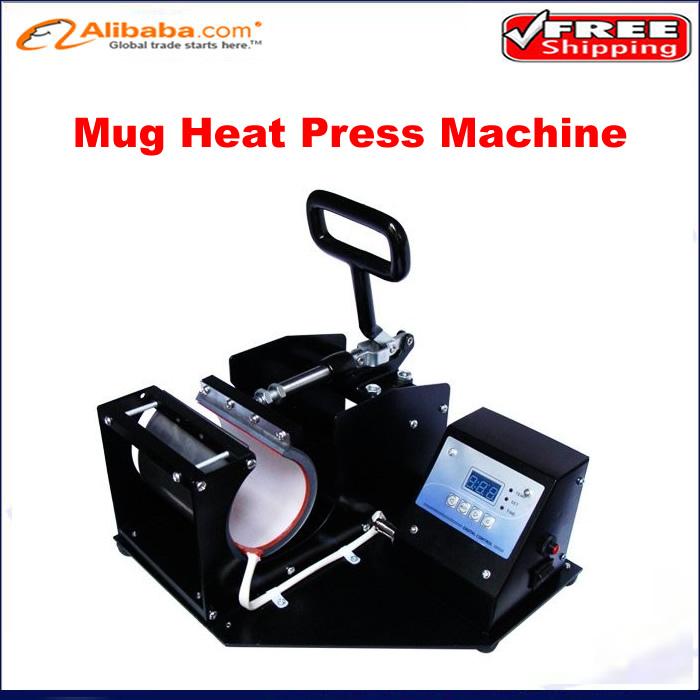 Free shipping!! Portable low price mug heat press machine,digital mug printing machine Thermal transfer baking cup machine(China (Mainland))